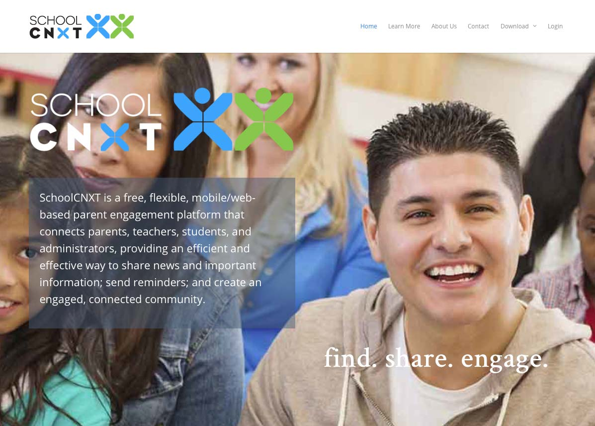 SchoolCNXT web design by Perkins Design Studios