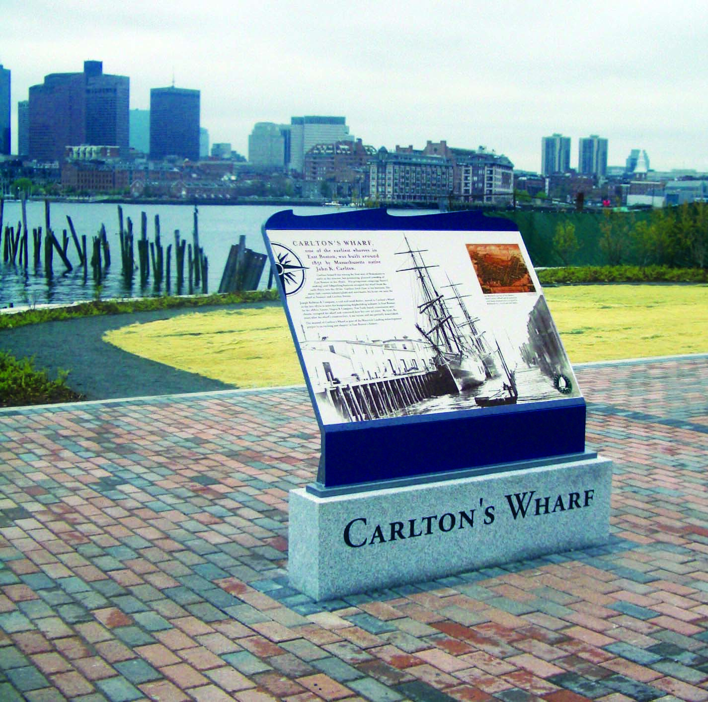 carlton's wharf sign, east boston, by Richard Perkins